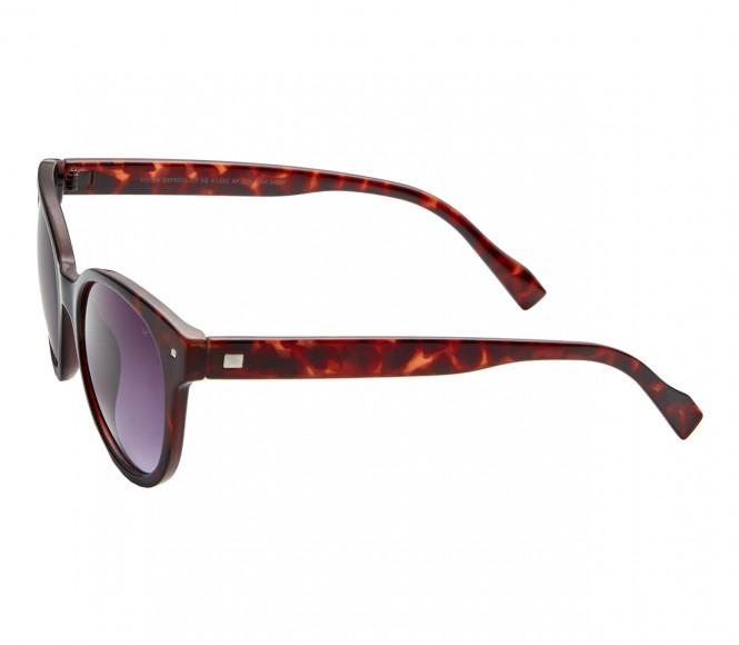 Round Grey Gradient Polycarbonate Full Rim Medium Vision Express 41331 Sunglasses